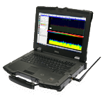 Aaronia Millitary Spectrum Analyzer, (Military Analyzer Notebook XFR, 1MHz - 9,4GHz)